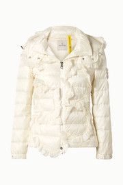 Moncler Genius + 4 Simone Rocha embellished ruffled quilted shell down jacket
