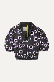 Moncler Genius + 4 Simone Rocha cropped embroidered shell jacket
