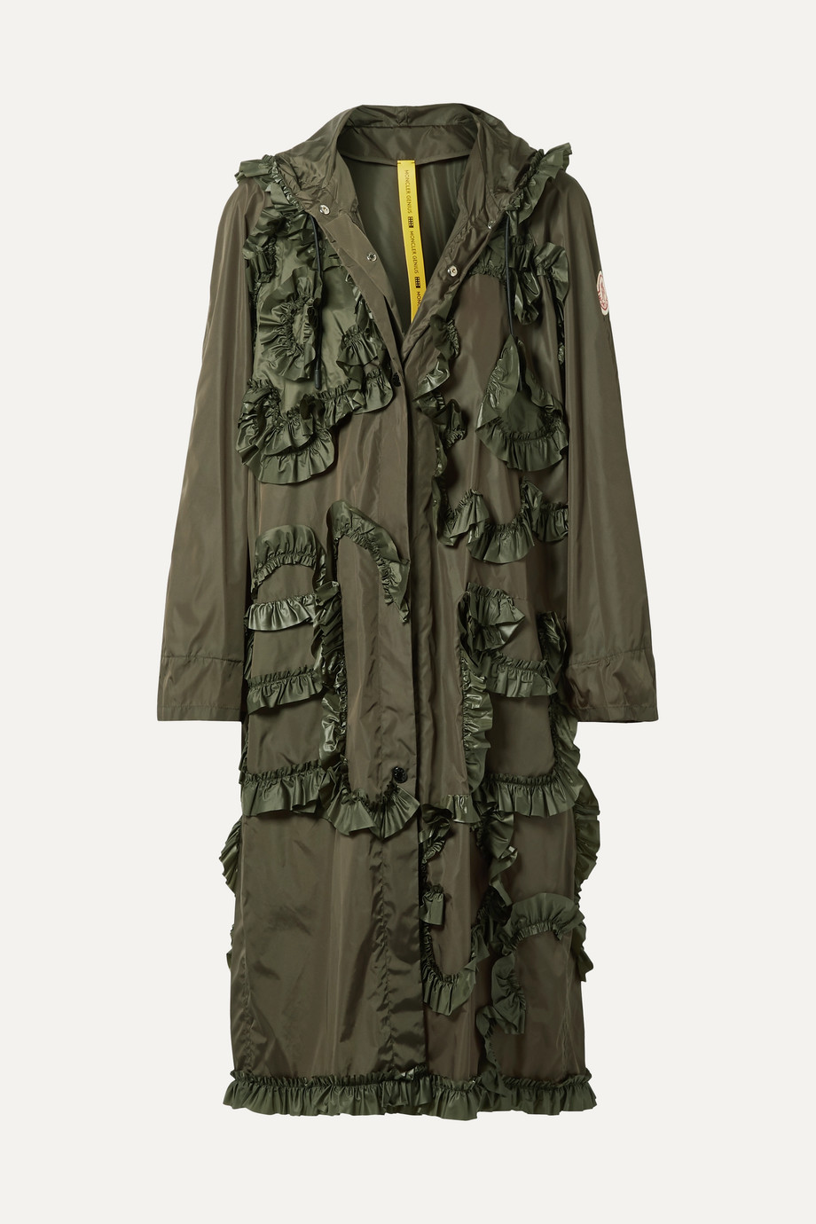 Moncler Genius + 4 Simone Rocha hooded ruffled shell jacket