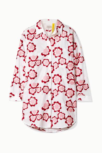 Moncler Genius T-shirts + 4 Simone Rocha embroidered cotton-poplin shirt
