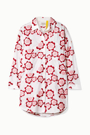 Moncler Genius + 4 Simone Rocha embroidered cotton-poplin shirt