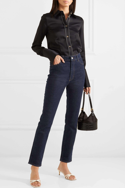 CASASOLA Mid-rise straight-leg jeans