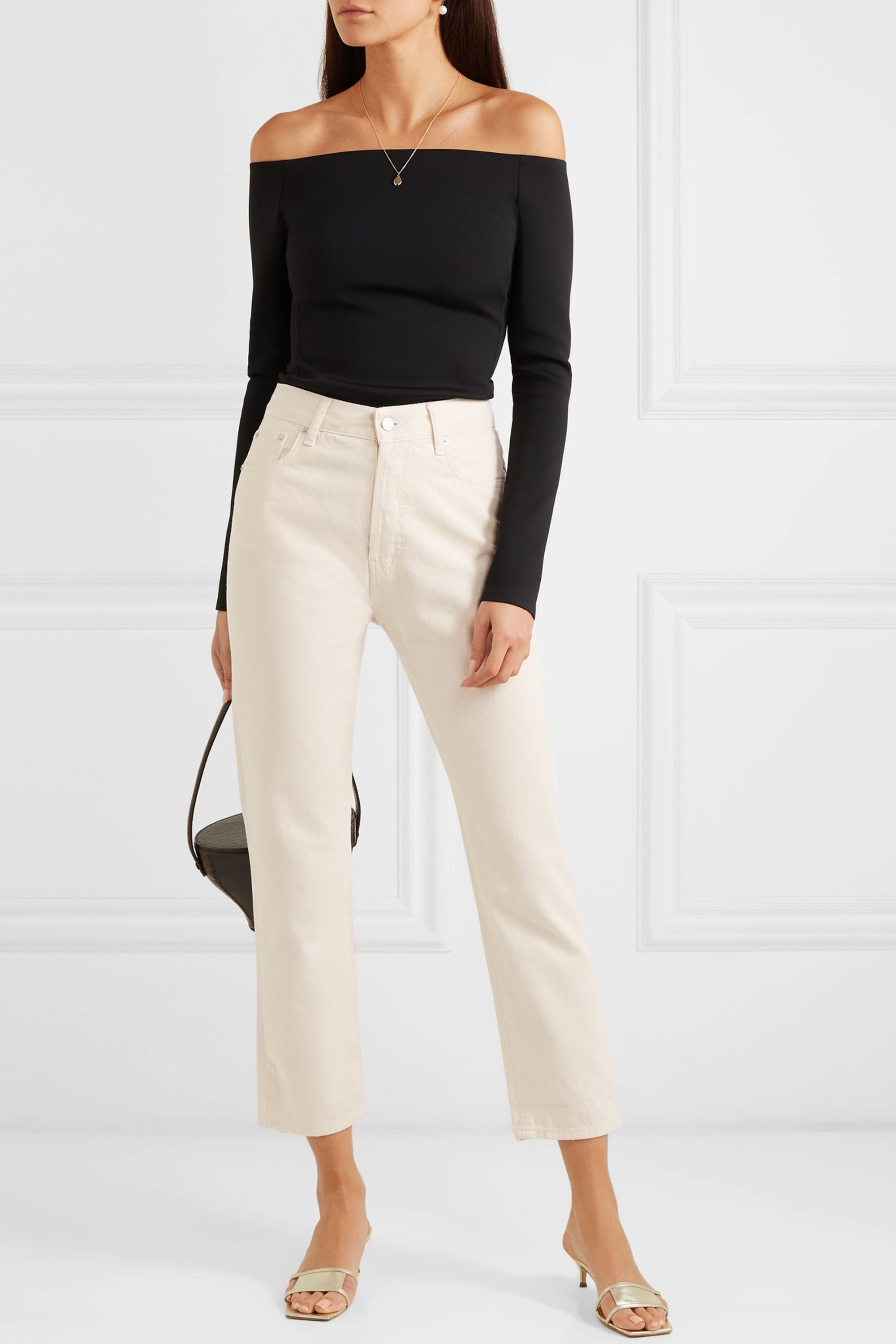 CASASOLA Mid-rise cropped straight-leg jeans