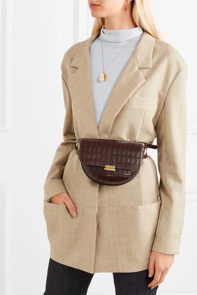 83fb48198267 Anna croc-effect leather belt bag