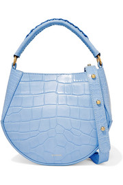 Corsa mini croc-effect leather shoulder bag