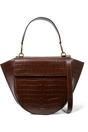 Hortensia medium croc-effect leather shoulder bag