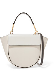 Hortensia mini two-tone textured leather shoulder bag
