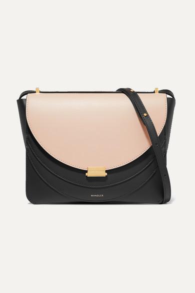 Luna Leather Shoulder Bag in Black