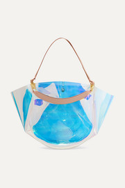 Wandler Mia PVC and leather tote