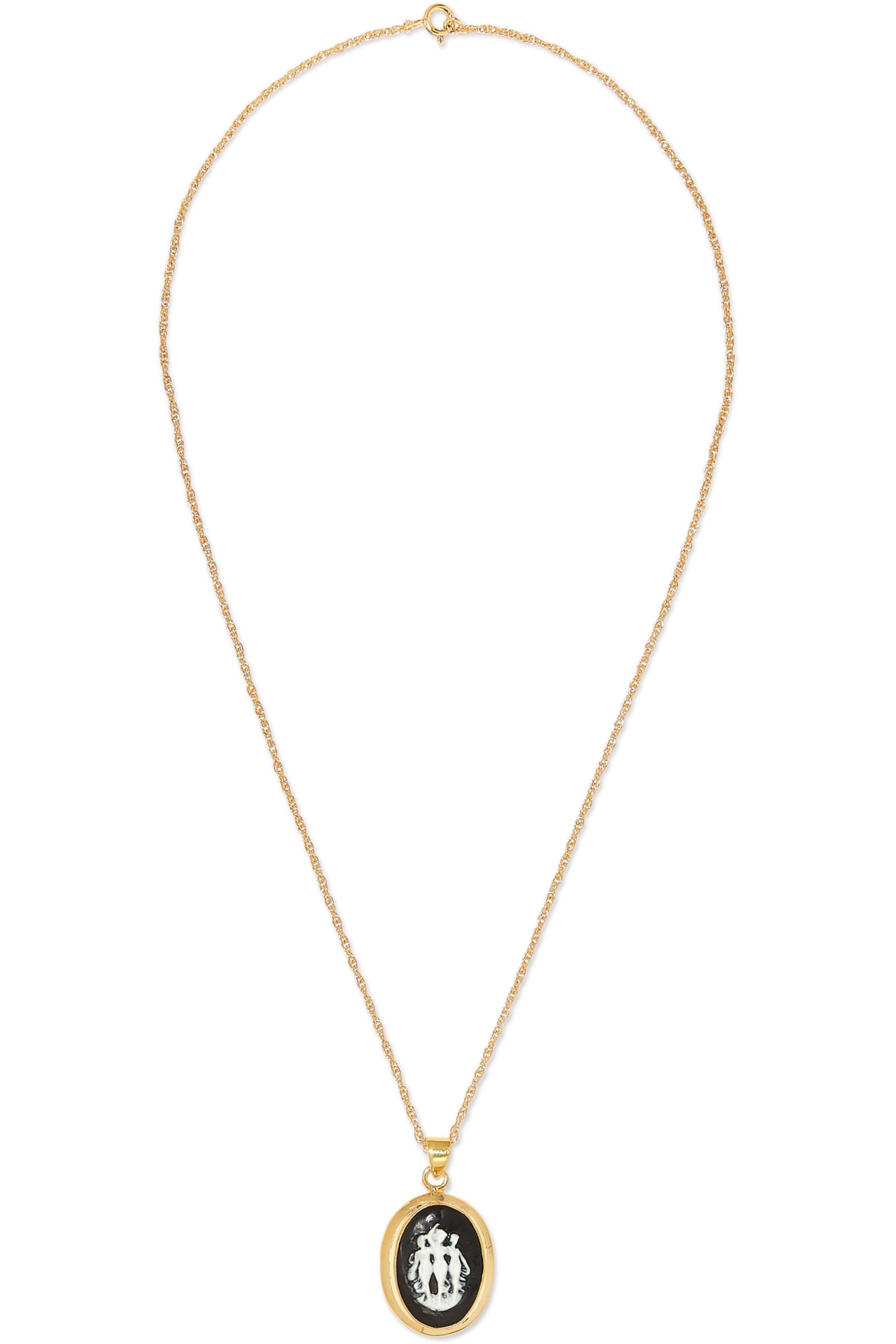 Sophie Buhai Gold vermeil and resin necklace