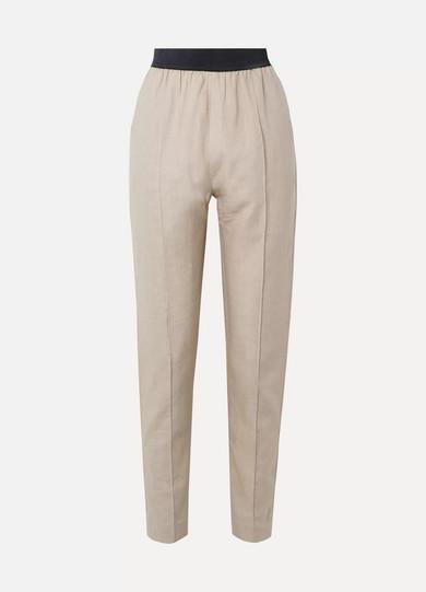 ALBUS LUMEN Linen Straight-Leg Pants in Neutral