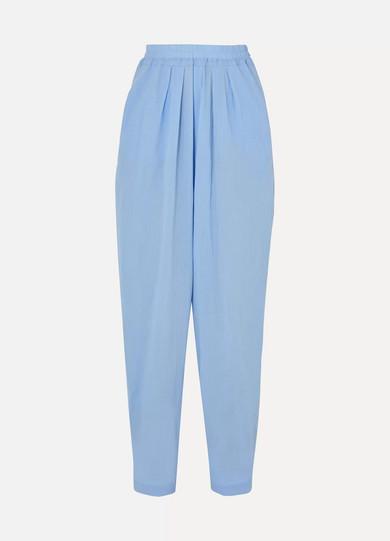 ALBUS LUMEN Chico High-Rise Cotton-Gauze Pants in Blue