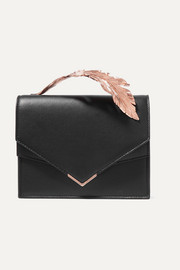 Ralph & Russo Alina leather clutch