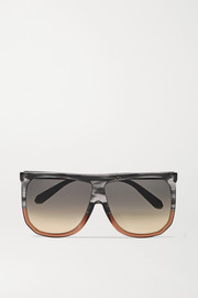 Loewe Filipa oversized two-tone D-frame acetate sunglasses