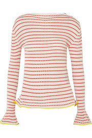 Roland Mouret Edlin striped ribbed-knit sweater