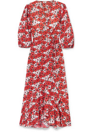 RIXO Noleen floral-print cotton-poplin wrap dress