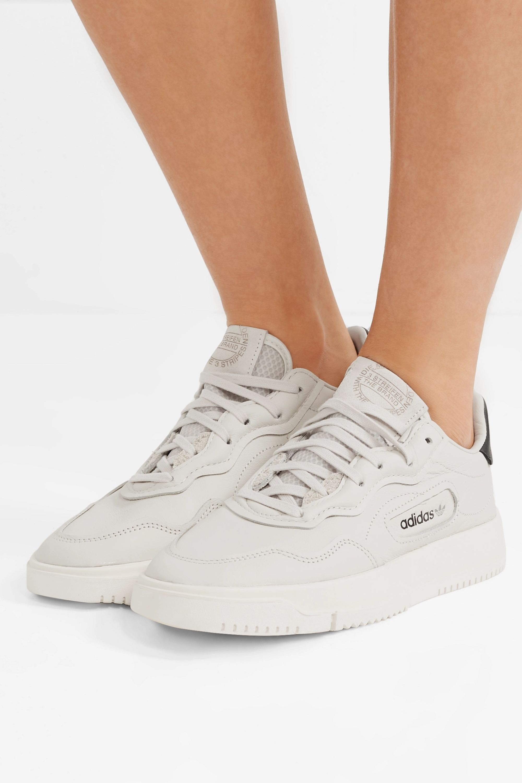 garra frente Desconexión  Off-white Super Court suede-trimmed leather sneakers   adidas Originals    NET-A-PORTER