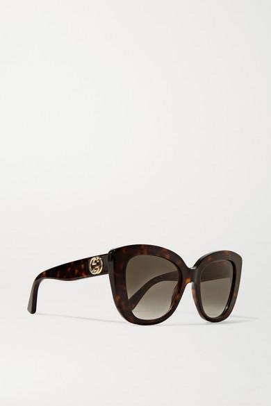 Gucci Sunglasses Havana cat-eye tortoiseshell acetate sunglasses