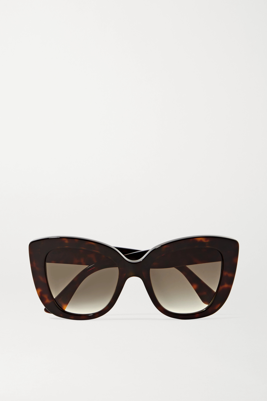 Gucci Havana cat-eye tortoiseshell acetate sunglasses