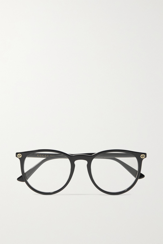 Gucci 板材圆框光学眼镜