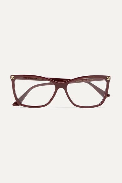 Gucci Square Frame Acetate Optical Glasses Net A Porter