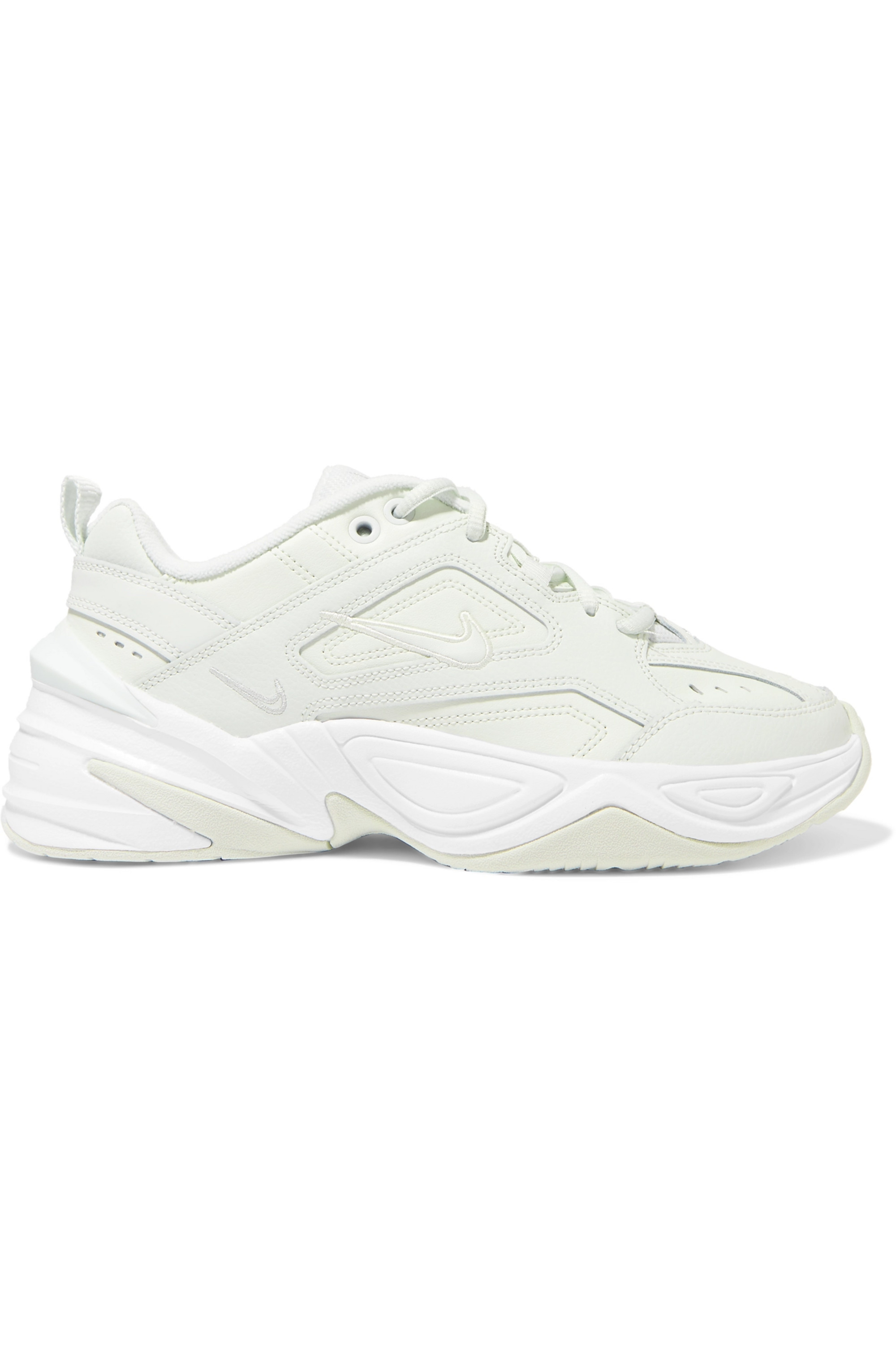 Green M2K Tekno leather and mesh