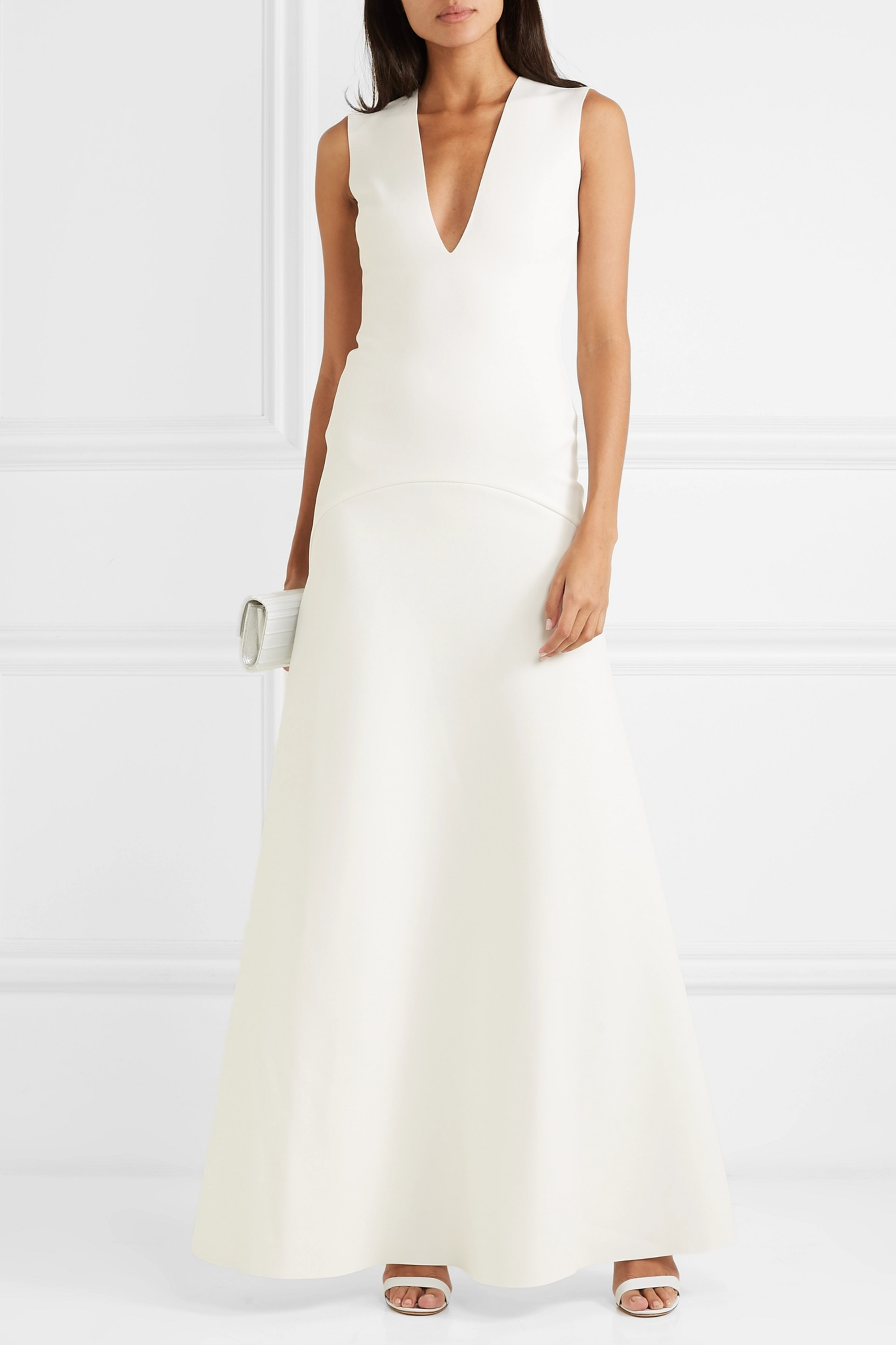 Solace London Seine stretch-cady gown