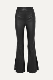 Almada leather bootcut pants