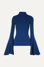 Sattal ribbed stretch-knit turtleneck top