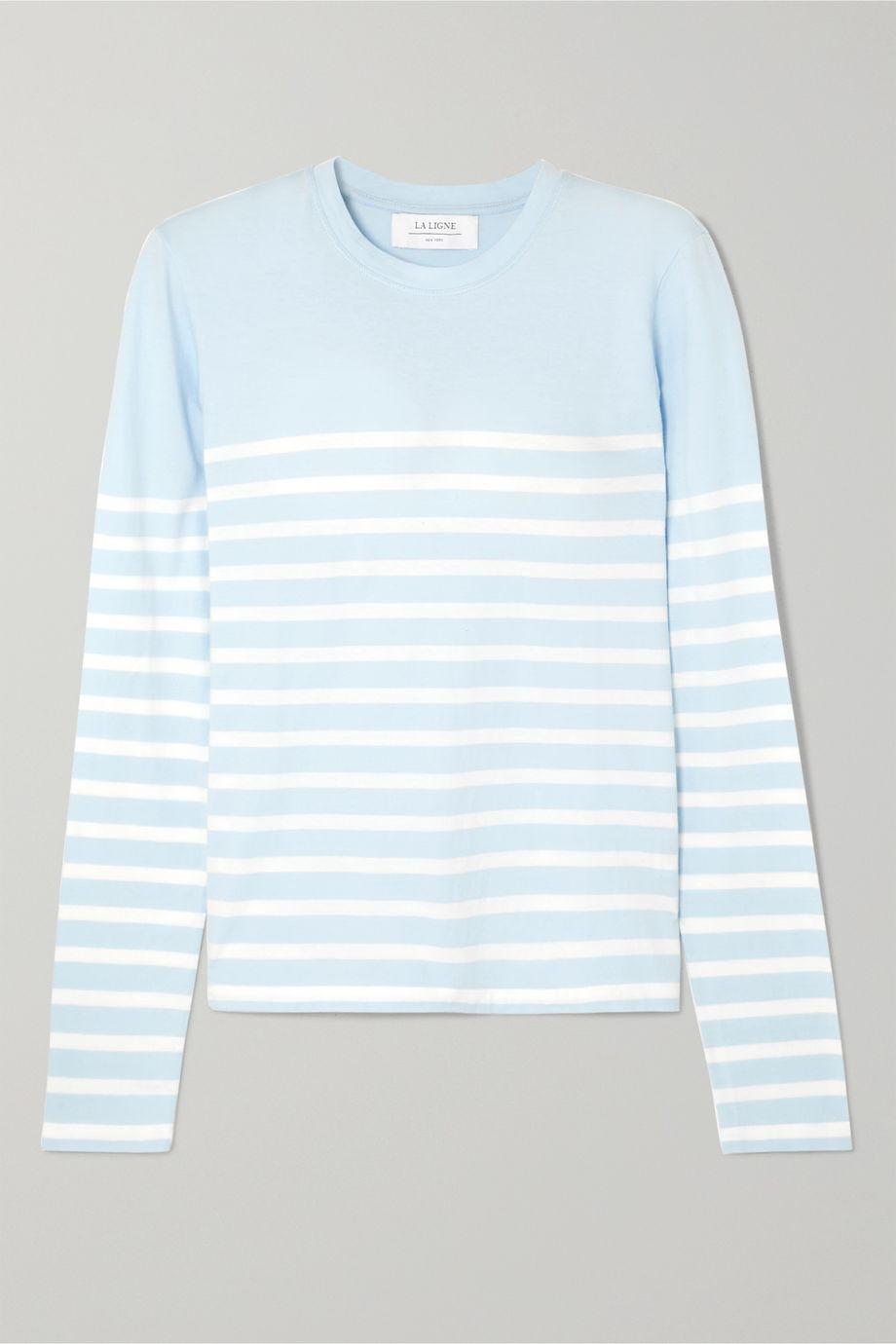 La Ligne Lean Lines striped cotton-jersey top