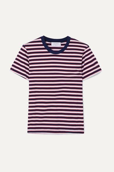 LA LIGNE | La Ligne - Seberg Striped Cotton-jersey T-shirt - Navy | Goxip