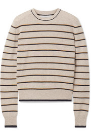La Ligne Neat striped wool and cashmere-blend sweater