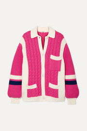 Miu Miu Oversized cable-knit wool cardigan