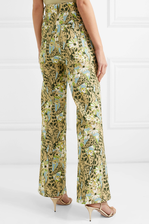 Miu Miu Printed high-rise wide-leg jeans