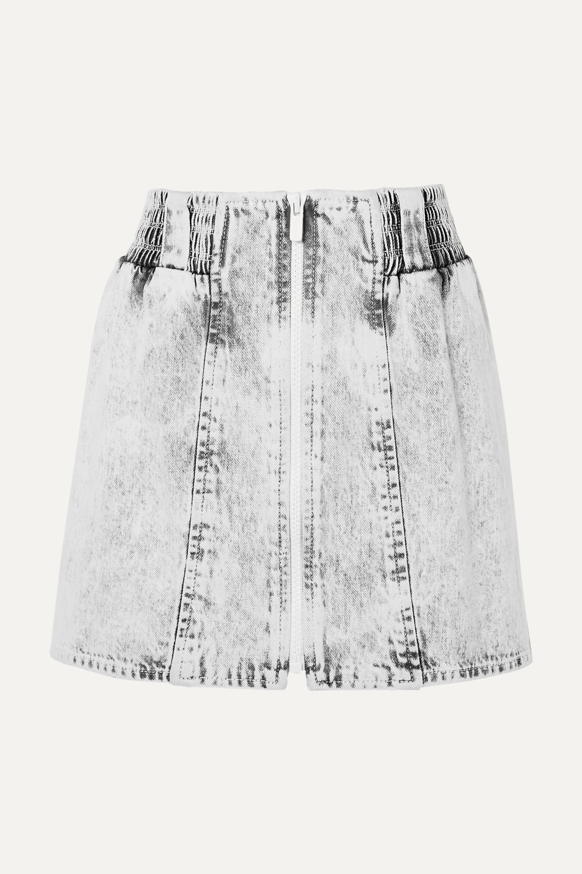 Miu Miu Printed denim mini skirt
