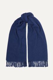 아크네 스튜디오 캐나다 프린지 울 스카프 블루 Acne Studios Canada fringed wool scarf