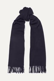 아크네 스튜디오 캐나다 내로우 프린지 울 스카프 네이비 Acne Studios Canada Narrow fringed wool scarf