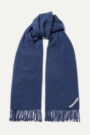 아크네 스튜디오 캐나다 내로우 프린지 울 스카프 인디고 Acne Studios Canada Narrow fringed wool scarf