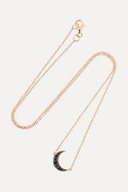 Luna 18-karat rose gold diamond necklace