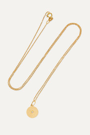 Andrea Fohrman Full Moon 18-karat gold opal necklace