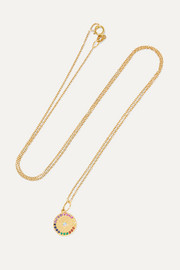 Full Moon 18-karat gold multi-stone necklace