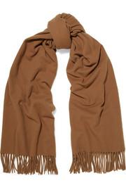 아크네 스튜디오 캐나다 프린지 울 스카프 다크카라멜 Acne Studios Canada fringed wool scarf