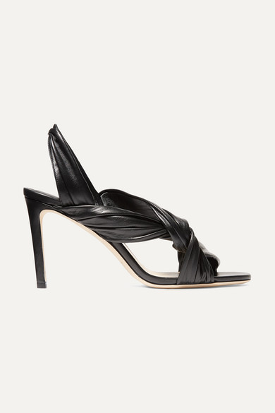 Jimmy Choo Sandals Leila 85 knotted leather slingback sandals