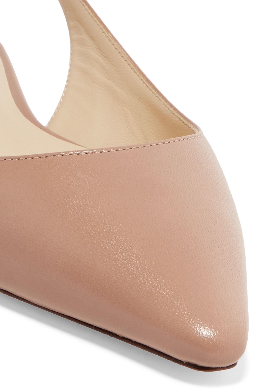 Jimmy Choo Erin leather slingback point-toe flats