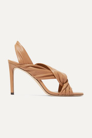 Leila 85 knotted leather slingback sandals