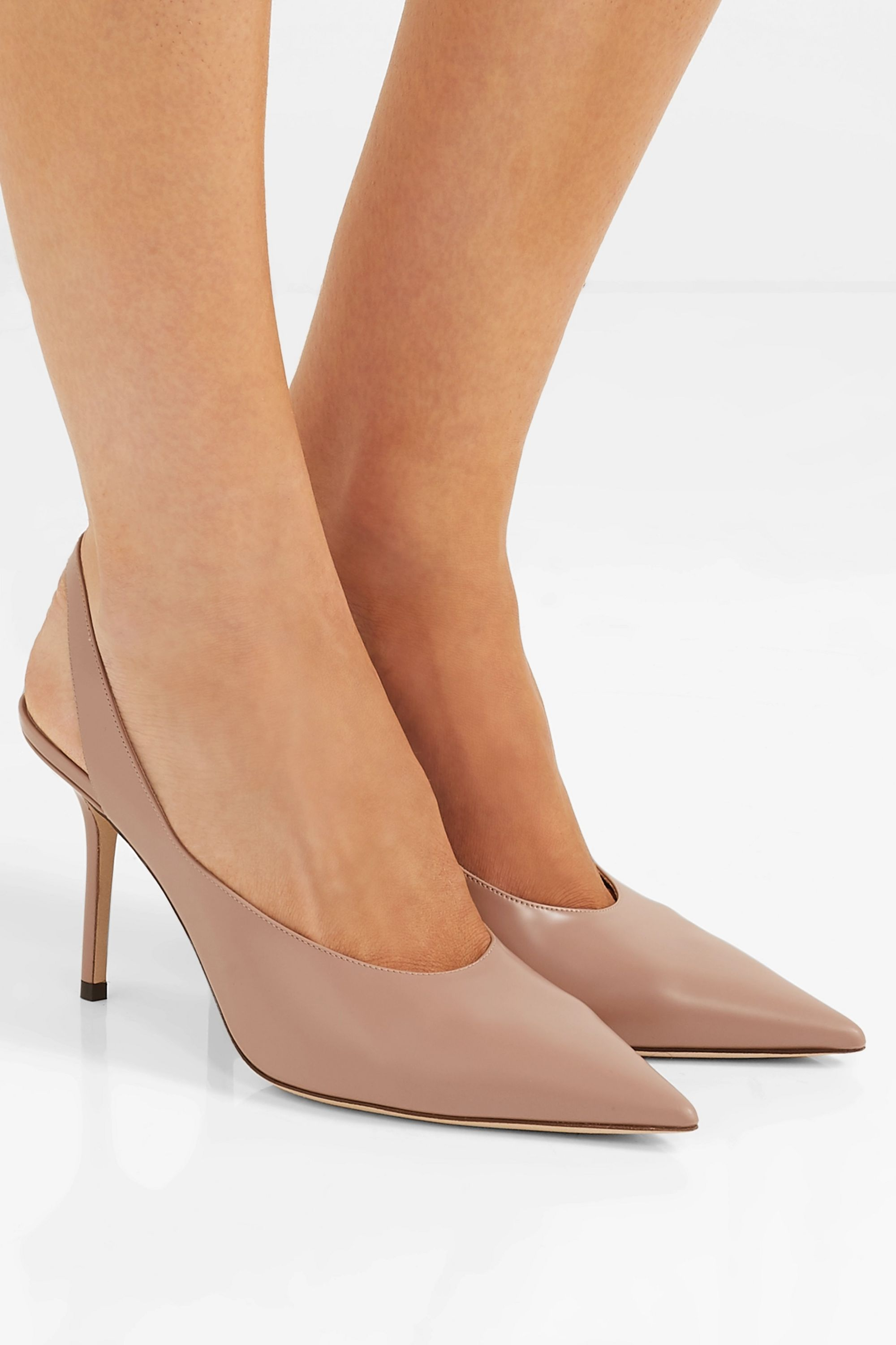 Neutral Ivy 85 leather slingback pumps