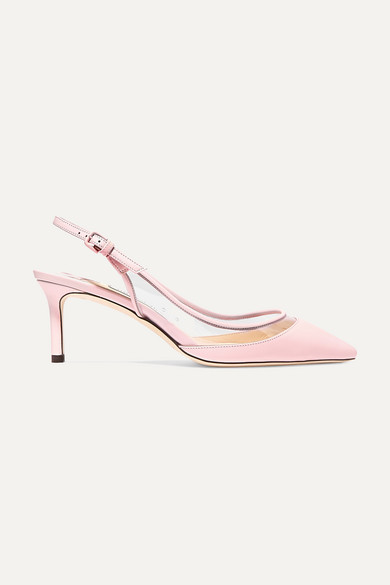 Erin 60 Pvc And Leather Slingback Pumps by Jimmy Choo