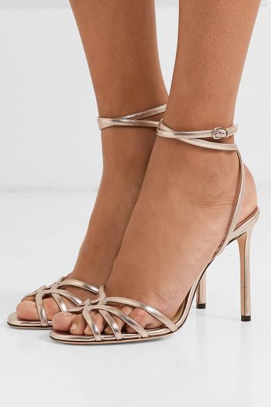 41ecea8592ad Jimmy Choo. Mimi 100 metallic leather sandals