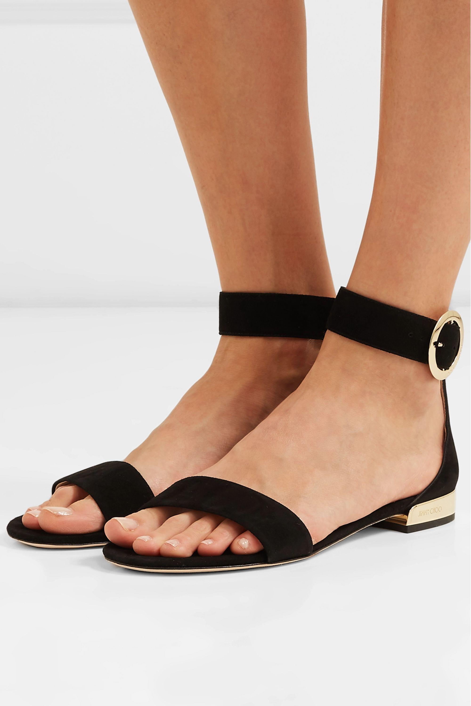 Black Jaimie suede sandals | Jimmy Choo