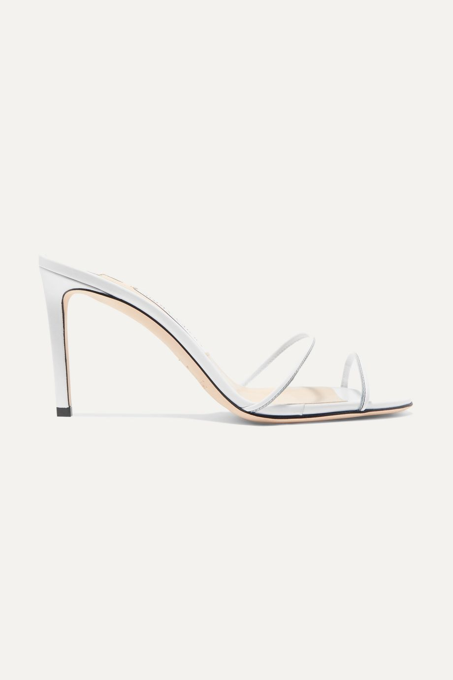 Jimmy Choo Stacey 85mm leather and PVC mules